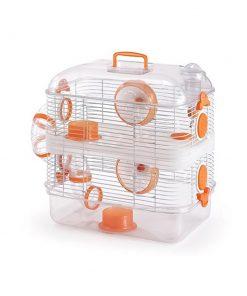 قفس همستر دایانگ کریستال دابل نارنجی