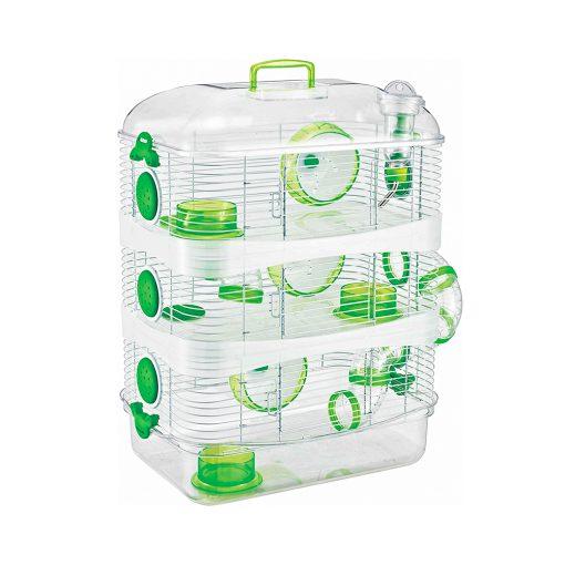 قفس همستر دایانگ کریستال تریپل سبز