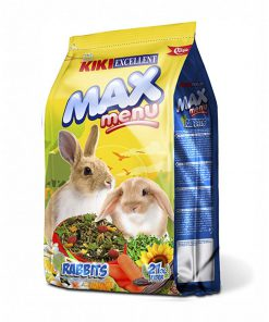 غذا خرگوش بالغ کیکی مدل مکس منو kiki excellent max menu